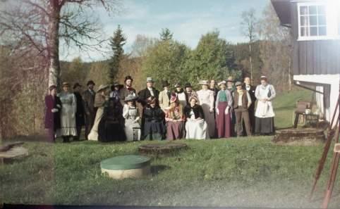 Gruppebilde tatt med snapshot fra 1903